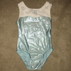 Other - Blue and white snowflake leotard
